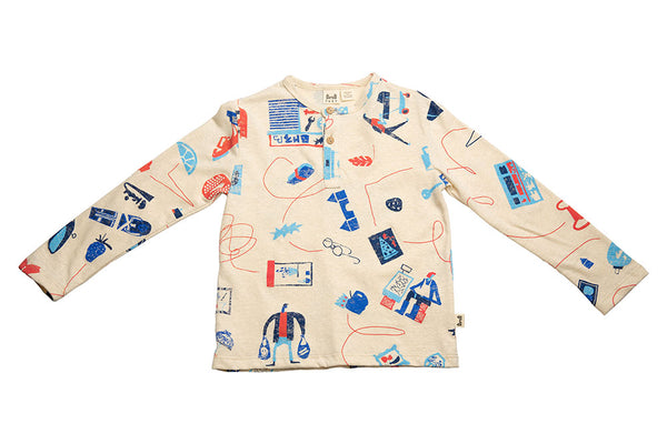 HENLEY - OFF-WHITE CITY PRINT