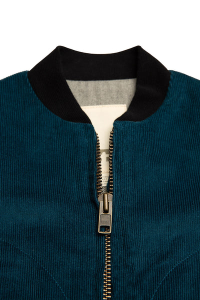 AVIATOR ZIP - CORDUROY - TEAL
