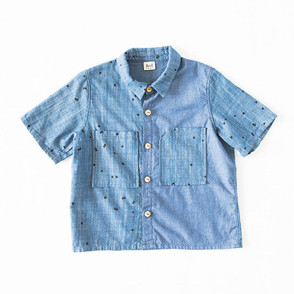 WORK/PLAY SHIRT - LOGO PRINT - BLUE