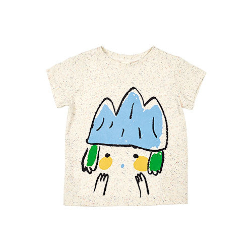 SS - basic crew t shirt - candy mountain kid