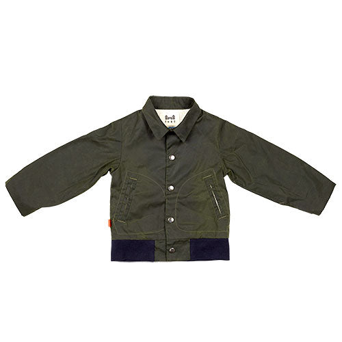 SS - flight jacket - green wax