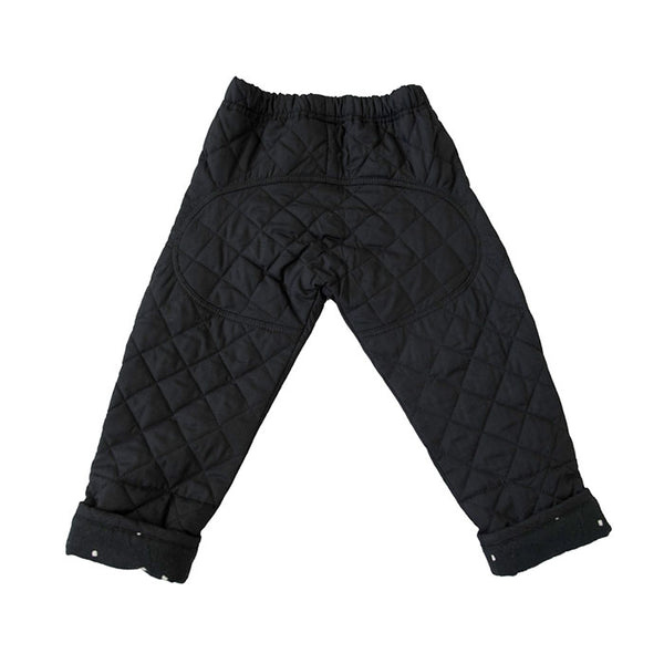BUM PATCH QUILTED PANT IN BLACK