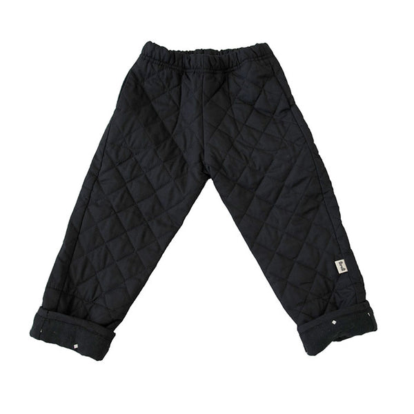 BUM PATCH PANT - QUILTED BLACK