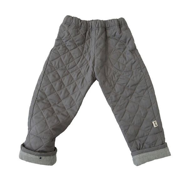 BUM PATCH QUILTED PANT IN GRAY