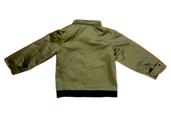 FLIGHT JACKET - GREEN CANVAS