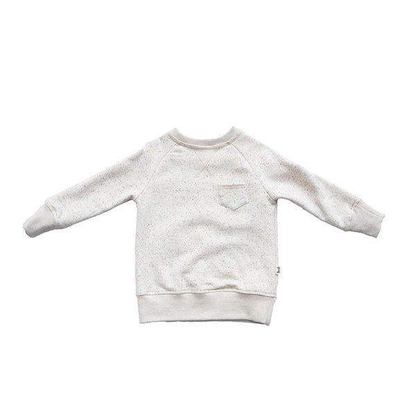 LI'L JOGGER SWEATSHIRT BELUGA PRINT IN OFF WHITE