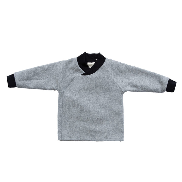 GNOME COAT - GREY WOOL