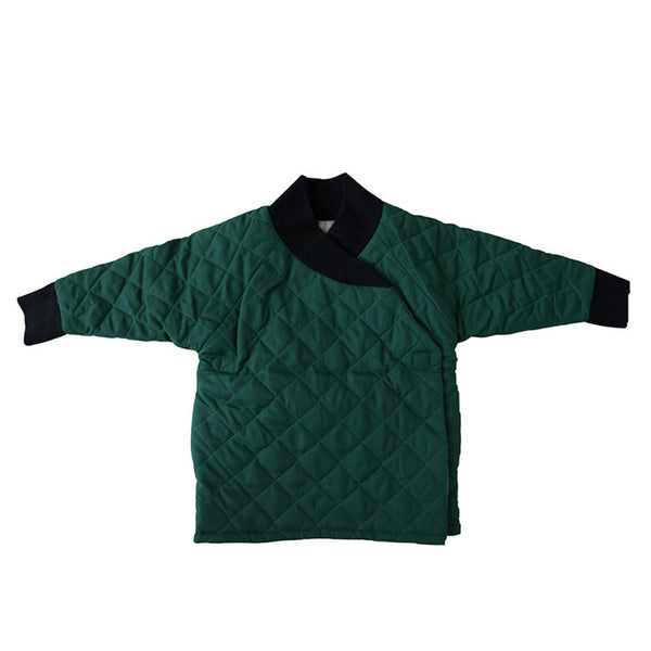 GNOME COAT - QUILTED GREEN