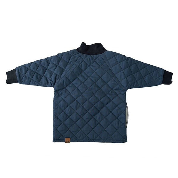 GNOME COAT IN QUILTED NAVY