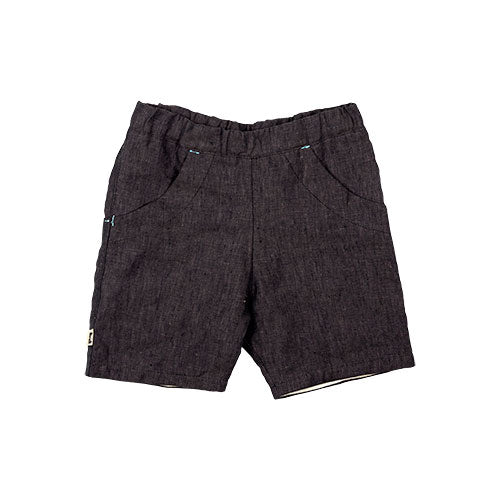 ROO SHORTS - LINEN - BLACK