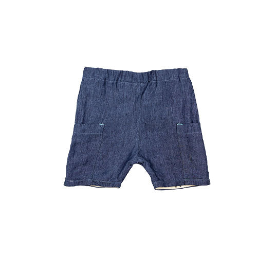 ROO SHORTS - LINEN - BLUE
