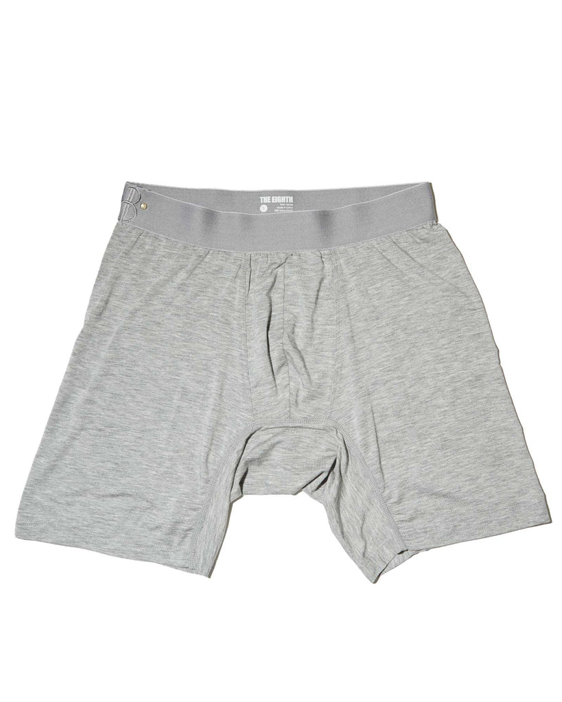 THE LOUNGE BOXER - Heather Grey Monochromatic