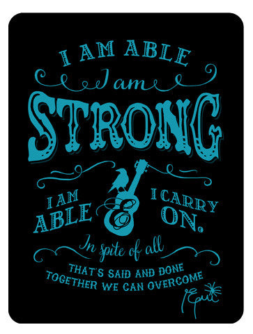 'I Am Able' Sign - Black