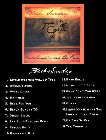 CD -- Black Sunday **SIGNED**