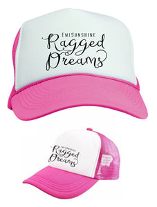 "EmiSunshine ""Ragged Dreams"" Foam Front Embroidered Pink/White Trucker Cap - New for 2017!"