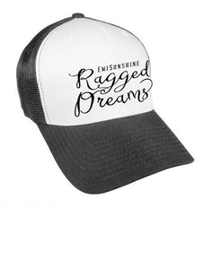 "EmiSunshine ""Ragged Dreams"" Foam Front Embroidered Black/White Trucker Cap - New for 2017!"