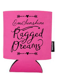 "EmiSunshine ""Ragged Dreams"" Koozie - Available in Pink or Black!"