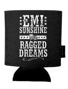 "EmiSunshine ""Ragged Dreams"" Flag Art  Black Koozie - New for 2017!"