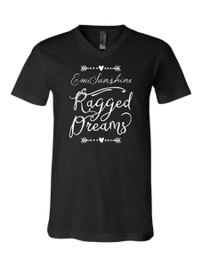 """Ragged Dreams"" V-neck Unisex Super Soft Tee -New for 2017!"