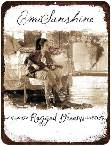 """Ragged Dreams"" Vintage Style Metal Sign with Rustic Border - NEW ITEM!"