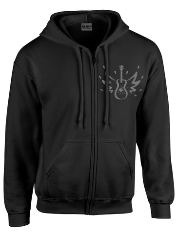 Zipper Hood w/Grey Logo --Front/Back Print - 50% off while they last!!