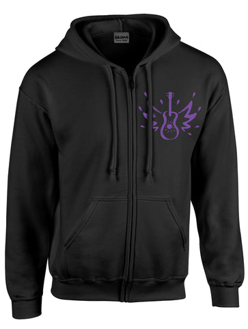 Zipper Hoodie w/Lavender Logo -- Front/Back Print - 50% off while they last!!