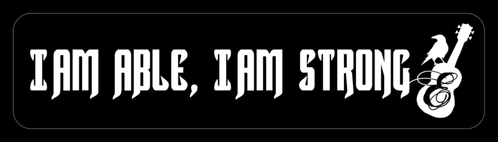 'I Am Able' Wrist Bracelet - Black with white lettering