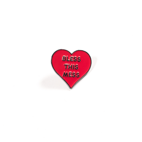 Bless This Mess Lapel Pin
