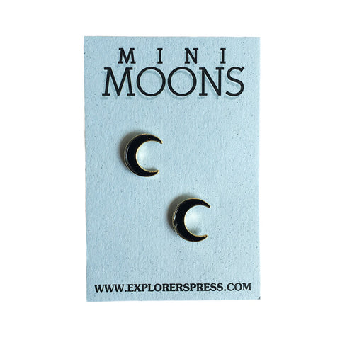Mini Moon Lapel Pin (2 Pack)