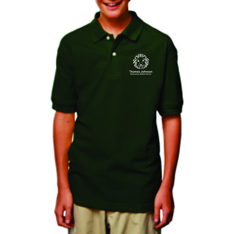 TJMS Youth Short Sleeve Polo (EMBROIDERED)