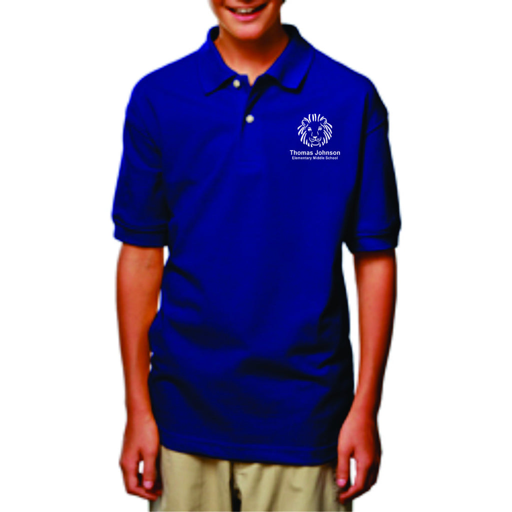 TJES Youth Short Sleeve Polo (EMBROIDERED)