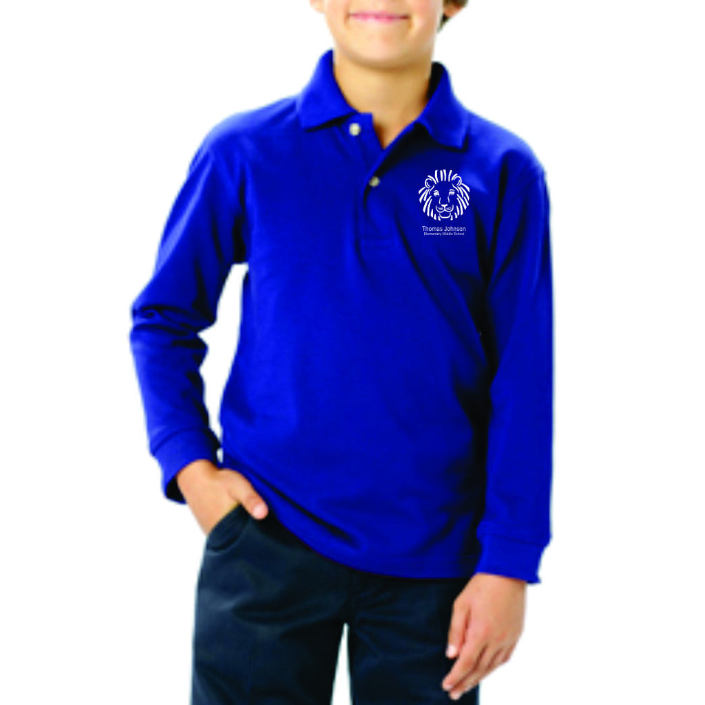 TJES Youth Long Sleeve Polo (SCREEN PRINTED)