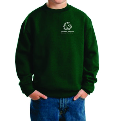 TJMS Youth Crewneck Sweatshirt (EMBROIDERED)