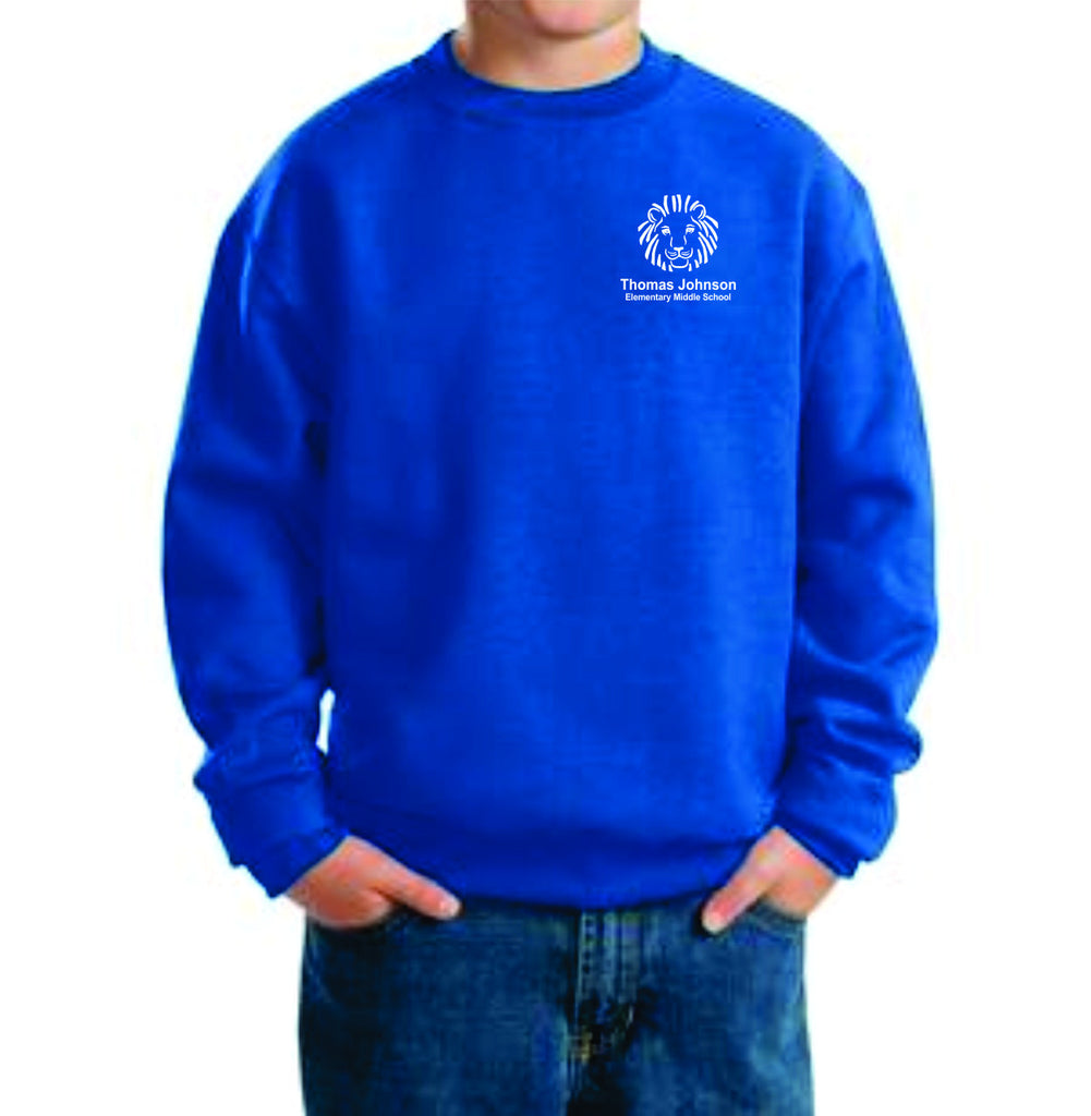 TJES Youth Crewneck Sweatshirt (EMBROIDERED)