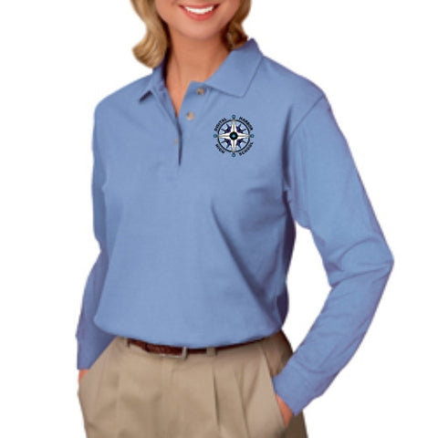 DHHS Ladies Long Sleeve Polo