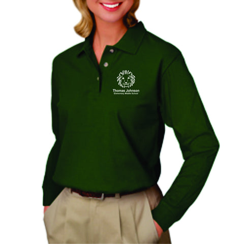TJMS Ladies Long Sleeve Polo (EMBROIDERED)