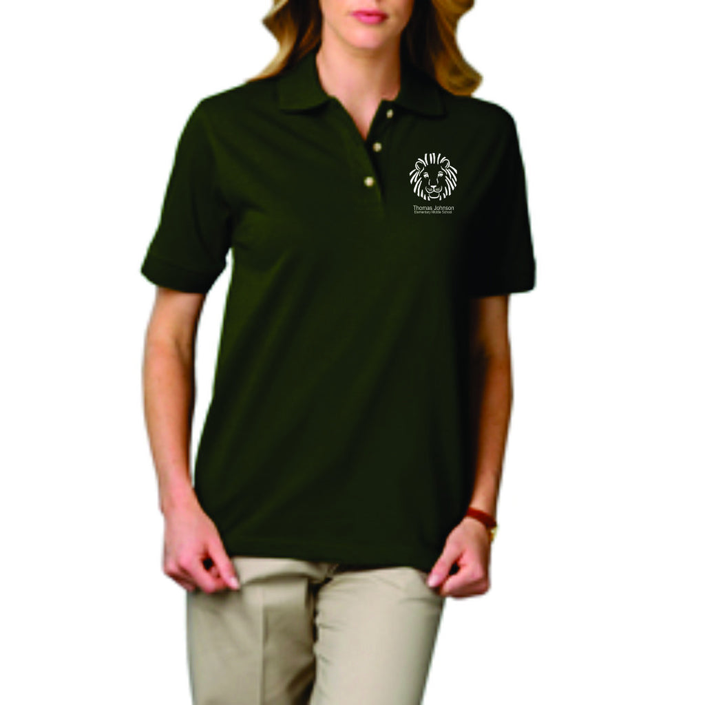 TJMS Ladies Short Sleeve Polo (SCREEN PRINTED)
