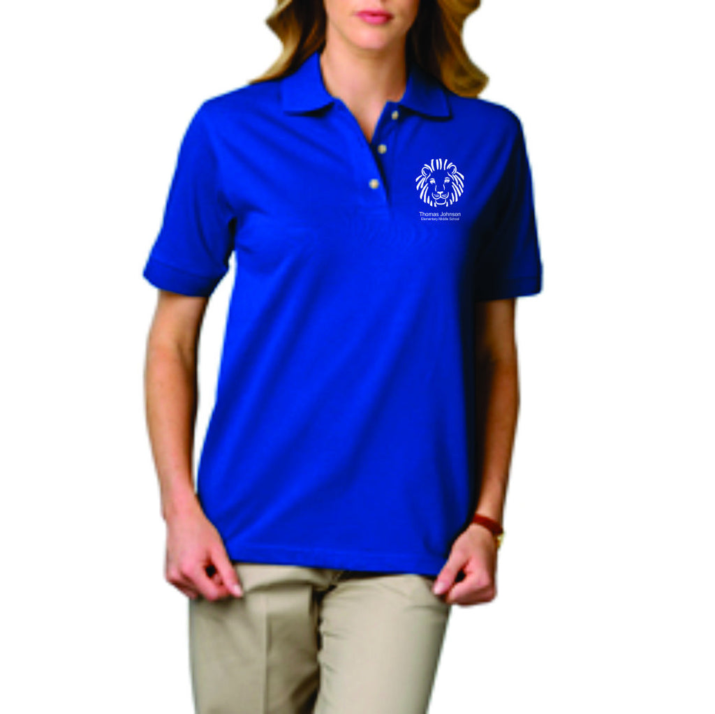 TJES Ladies Short Sleeve Polo (SCREEN PRINT)