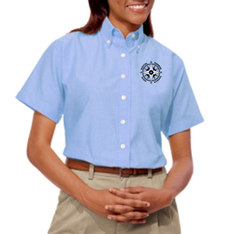 DHHS Ladies Short Sleeve Oxford