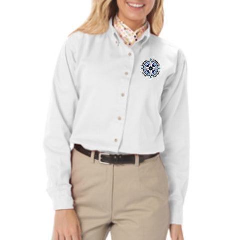 DHHS Ladies Long Sleeve Oxford Shirt