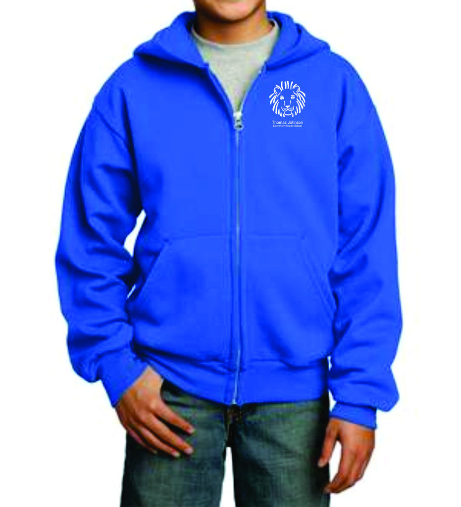 TJES Youth Full Zip Hooded Sweatshirt (SCREEN PRINTED)