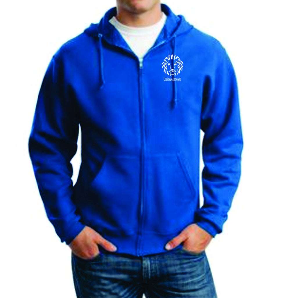 TJES Adult Full Zip Hooded Sweatshirt (SCREEN PRINTED)