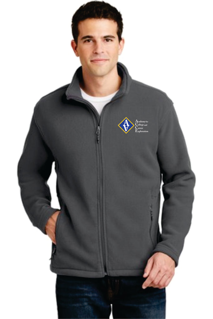 ACCE Men's Full Zip Fleece Jacket (Embroidered)