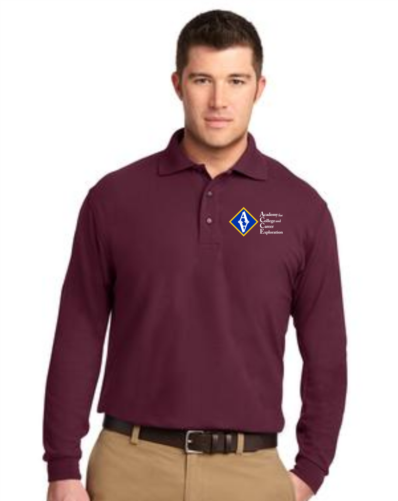 ACCE Men's Long Sleeve Value Polo (Embroidered)