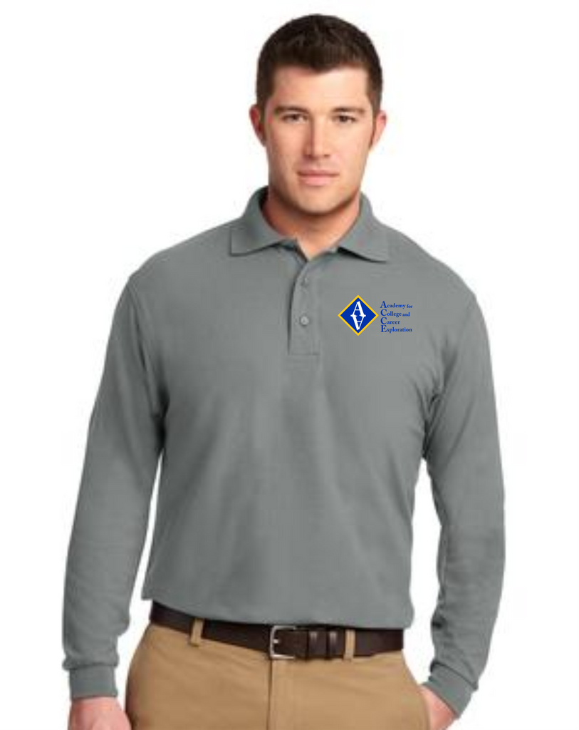 ACCE High Men's Long Sleeve Value Polo (Embroidered)