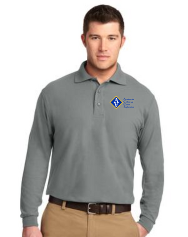 ACCE High Men's Long Sleeve Value Polo (Screeen Printed)
