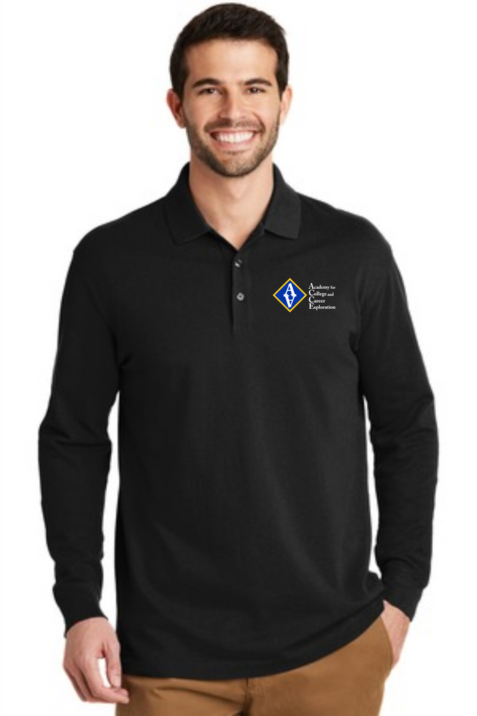 ACCE Staff Men's Long Sleeve Polo (Embroidered)