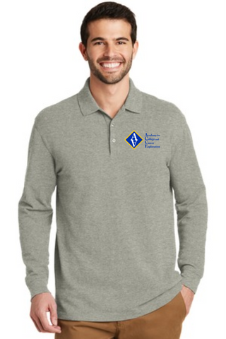 ACCE High Men's Long Sleeve Polo (Screen Printed)