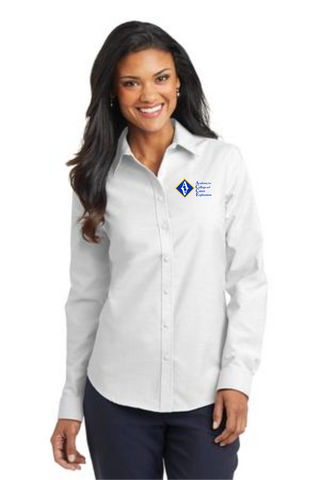 ACCE Staff Ladies Long Sleeve Oxford (Embroidered)