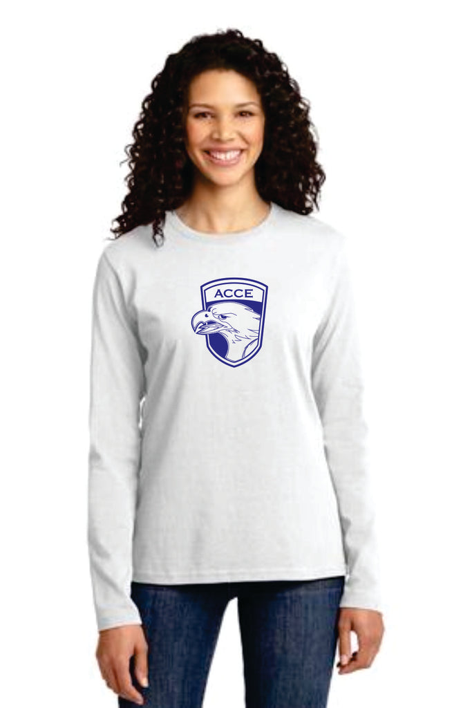 ACCE Ladies Long Sleeve T-shirt (Screen Printed)